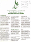 Innovations in Forestry: Sustainable Forestry and Certification