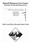 Public Land: How Much Is Enough?