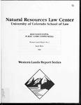 Discussion Paper: Public Lands Communities
